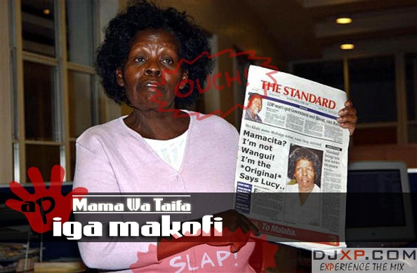 Kenya's First Lady Lucy Kibaki speaks to