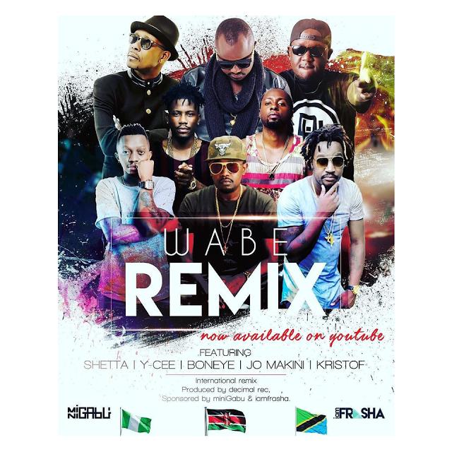P Unit Feat. ft. Ycee , Shetta , Boneye, Joh Makini & Kristof - Wabe (Remix)